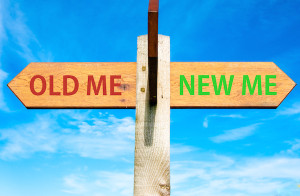 Old Me, New Me Sign